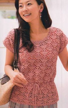 Вязание блузки крючком