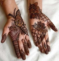 1000 Simple and Easy Henna Tattoo Designs for Brides on Wedding. Latest collection henna tattoo designs with various pattern and style for brides on wedding Mehndi Designs 2018, Mehndi Designs For Girls, Dulhan Mehndi Designs, Mehndi Design Pictures, Wedding Mehndi Designs, Mehndi Designs For Fingers, Modern Mehndi Designs, Beautiful Henna Designs, Mehndi Designs For Hands