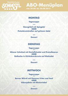 Guten Wochenstart mit gutem Essen...das findest du beim ABO-Menü im WohlfühlHotel Schiestl in Fügen/Zillertal. Lasst es euch schmecken!!