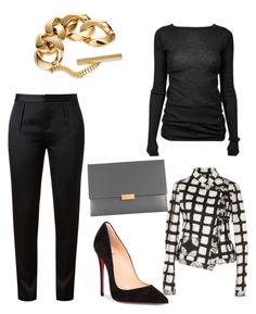 """""""Untitled #363"""" by mchlap on Polyvore featuring Rick Owens, Alexander Wang, Proenza Schouler, Gucci, STELLA McCARTNEY and Christian Louboutin"""