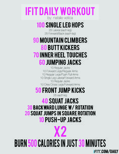 This workout is amazing and is for everybody. Natalie, the trainer, has 2 kids and looks amazing. It's only 30 minutes and you burn 500 calories. Can't wait to try this, it's FREE everyday!
