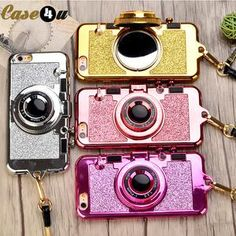 Bling Camera shining iPhone x 10 8 7 6s mobile phone cases
