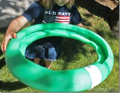 Pool noodle and marble craft game.  www.txsource.net