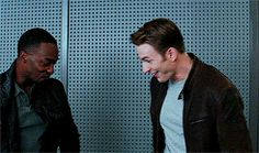 Chris Evans in the Captain America: Civil War Gag Reel.