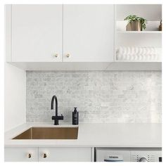 Doing a spot of laundry this weekend? Look forward to laundry day in a laundry you love ♥️ Start your dream laundry journey with us today… Laundry Nook, Laundry Decor, Small Laundry, Laundry In Bathroom, Laundry Hacks, Interior Design Kitchen, Interior Design Living Room, Living Room Designs, Kitchen Decor