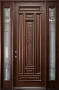 Wooden Single Front Door Designs For Houses   Outside Wood Doors .