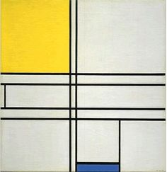 """Piet Mondrian, """"Composition with Blue and Yellow (Composition Bleu-Jaune)"""", Piet Mondrian, Bauhaus, Theo Van Doesburg, Hirshhorn Museum, Dutch Painters, Dutch Artists, Geometric Art, Art And Architecture, Abstract Expressionism"""