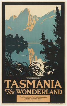 Original Vintage Posters -> Travel Posters -> Tasmania The Wonderland Lake Marion Vintage Advertising Posters, Retro Poster, Vintage Travel Posters, Vintage Advertisements, Party Vintage, Pub Vintage, Posters Australia, Australia Pics, Australian Vintage
