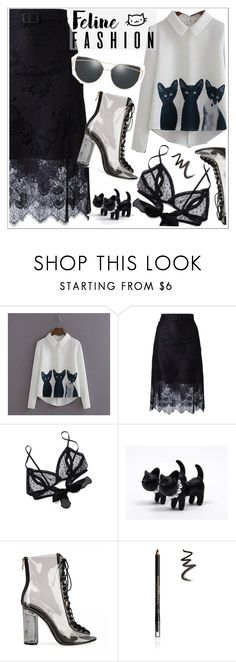 """""""Meow"""" by teoecar ❤ liked on Polyvore featuring Carven, Only Hearts, Elizabeth Arden, ootd and sugar"""