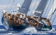 """The mega Ketch """"Hetairos"""" impressed with classic lines and rich 214 foot? Maxi Yacht Rolex Cup 2015"""
