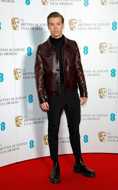 Where: The EE BAFTA Film Awards nominations in London When: January 2019 Why: We haven't seen a leather jacket like this since now we're wondering: Why not? Mens Fashion Quotes, Will Poulter, Cocktail Sauce, Cocktail Movie, Cocktail Shaker, H M Men, Cocktail Attire, Cocktail Dresses, Best Dressed Man