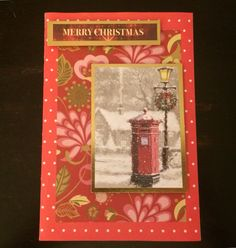 Snowy postbox christmas card