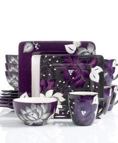 Dinnerware Set (180 BAM) ❤ Liked On Polyvore Featuring Home, Kitchen U0026  Dining, Dinnerware, Poppy Dinnerware Set, Microwave Safe U2026 | Pinteresu2026