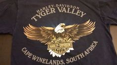 Harley Davidson Tyger Valley South Africa Thunder Turn It Up T shirt Size M #HarleyDavidson #GraphicTee
