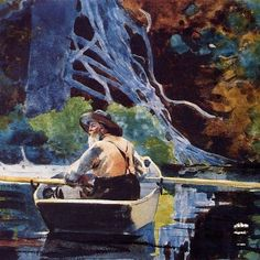 Winslow Homer, The Adirondack Guide (1894) Acquerello su grafite su carta - Museum of Fine Arts, Boston