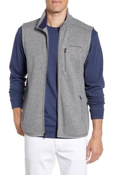 Southern Tide Samson Classic Fit Vest In Steel Grey Workout Vest, Southern Tide, Knit Vest, Everyday Look, The North Face, Nordstrom, Mens Fashion, Classic, Fitness