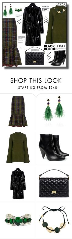 """Back to Basics: Black Booties"" by faten-m-h ❤ liked on Polyvore featuring Stella Jean, Lizzie Fortunato, Mother of Pearl, Carven, Boutique Moschino, Marni and blackbooties"