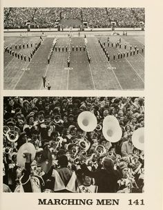 "Athena Yearbook, 1973., ""Marching Men."" :: Ohio University Archives"