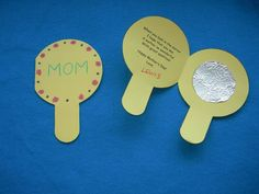 Mirror Card for Mom-Or use this idea for girls to make their own tin foil mirror to earn the purple respect myself and others petal badge