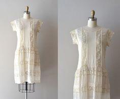 1920s dress / silk 20s dress / Treasor silk & lace by DearGolden,