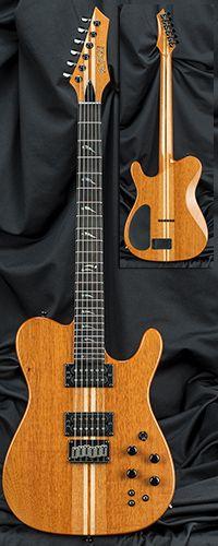 Kiesel Guitars TL60 Single Cutaway Guitar Serial Number 132690