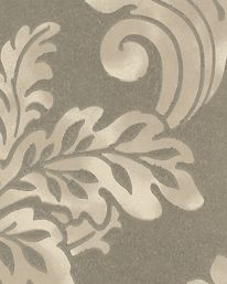 Tapet Fresco Damask Silver Leaf från Mulberry