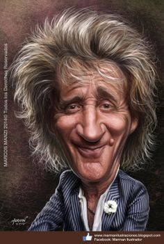 Rod Stewart Caricature                                                                                                                                                      Mais