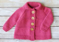 Baby Girl Clothes  Baby Sweater  Girl's Pink by SilverMapleKnits
