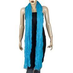 783f07801136c Bleu Echarpe Printemps  été 2012 en coton Femmes Accessories 223 x 101 cm   Amazon.fr  Vêtements et accessoires