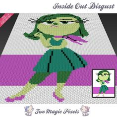 Looking for your next project? You're going to love Inside Out Disgust C2C Crochet Graph by designer TwoMagicPixels.