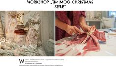 TiMiMoo Christmas Style Workshop in Rust // // www. Christmas Style, Christmas Fashion, Workshop, Annie Sloan Chalk Paint, Bed And Breakfast, Event Design, Rust, Boutique, Breakfast In Bed