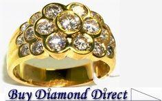 "14K YG.Cluster #Diamond #ring ""Very Pretty"""