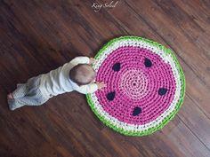 Crochet Watermelon Rug This Hand Crocheted Rug Is Made From U0027fabric Yarnu0027  Which I