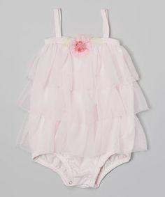 Look what I found on #zulily! Light Pink Ruffle Pima Bodysuit - Infant by Victoria Kids #zulilyfinds