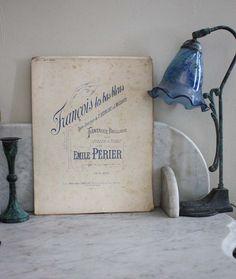 French Antique Vintage Sheet Music /Paper Ephemera. Francois les bas bleus. Opera Comique..