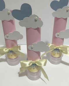 Cloud Party, World Crafts, Diy And Crafts, Paper Crafts, Teaching Aids, New Baby Products, Birthdays, Lily, Place Card Holders