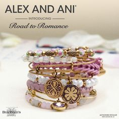 Road to Romance- a gorgeous combination of pinks, golds and whites! by Alex and Ani.