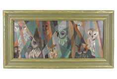 One Kings Lane - Gallery Wall - Cubist-Style Owls