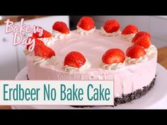 Erdbeer-Milchshake No Bake Cake - BakeClub