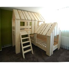 i wanna make this boomhut duo, double treehouse Cool Kids Bedrooms, Girls Bedroom, Bedroom Decor, E Room, Kids Room, House Beds For Kids, Cool Bunk Beds, Diy Bed, Kids Furniture