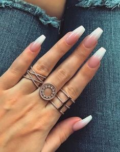 15 Pretty White Nail Designs 2018 White Nail Polish is one of the most popular accessories used by women around the world. #nail #nails #whitenail #easynail #nailart #nailpolish #design #trend