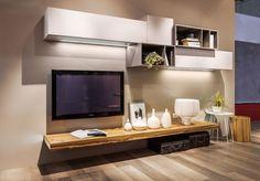 Soggiorno bicolore ~ Parete attrezzata per un soggiorno moderno. napol al salone del