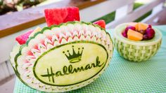 Beautiful Star Flower Watermelon Bowl by Home And Family Crafts, Home And Family Tv, Home And Family Hallmark, Family Show, Watermelon Bowl, Watermelon Carving, Food Crafts, Diy Food, Diy Crafts