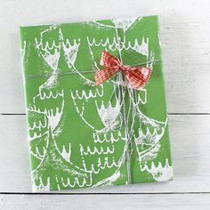 Christmas wrapping paper on Etsy