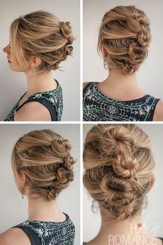 Hair Romance - 30 Buns in 30 Days - Day 22 - Mini buns hairstyle