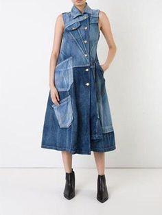 Outfit Jeans, Jeans Dress, Denim Mantel, All Jeans, Denim Ideas, Denim Coat, Refashioning, Denim Fashion, Look