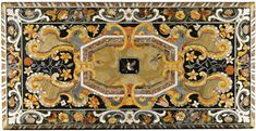 A pair of Italian pietre dure, pietre tenere, marbles and mother-of-pearl inlaid table tops, in the manner of Cosimo Fanzago (1591-1678) Neapolitan, late 17th Century
