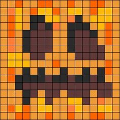 Minecraft perler pumpkin