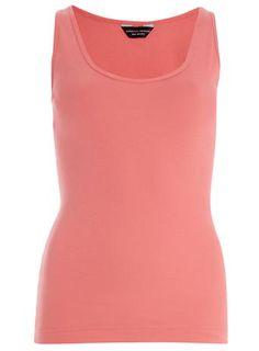 Pink Scoop Vest top