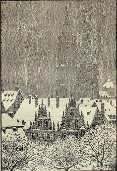 geisterseher:  From Christian Schmitt, Du mein lieb Heimatland: Bilder und Stimmungen aus dem Elsaß in Gedichten (1928) Illustrations ...